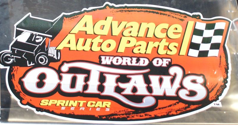 Advanced Auto Parts and World of Outlaws Logo