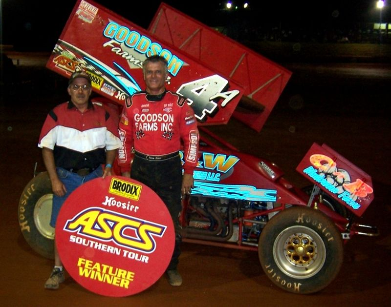 Kenny Adams notched his fifth ASCS Southern Tour feature win