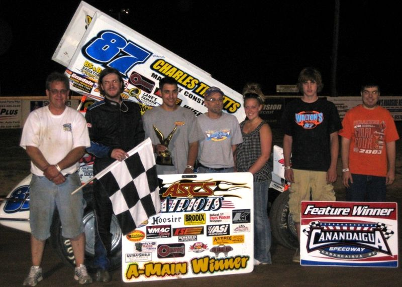 Jason Barney topped Saturday night's ASCS Patriots feature event at New York's Canandaigua Speedway