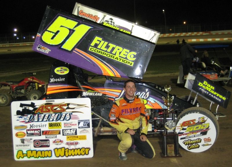 Bryan Howland topped the inaugural edition of the ASCS Northern Summer Nationals at Ontario's Ohsweken Speedway pitting the ASCS Patriots versus the ASCS Sprints on Dirt.
