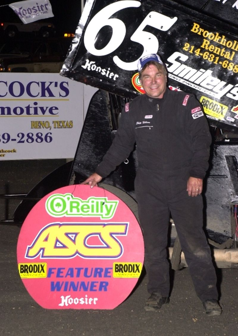 Skip Wilson of Mesquite, TX, captured his first career O'Reilly American Sprint Cars on Tour National feature win by topping Friday night's 25-lap main event at Paris Motor Speedway near Paris, TX.