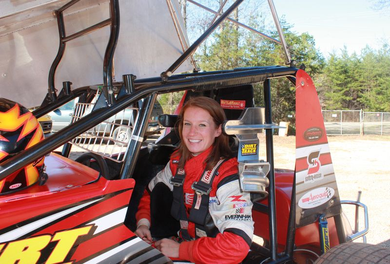 Driver erin crocker in a midget