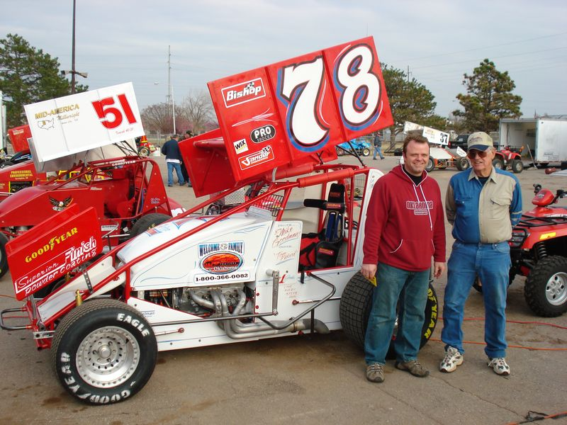 '08 Super Sprint OKc. Racing part time for car owners Tom(pictured right) & Kevin Pickard