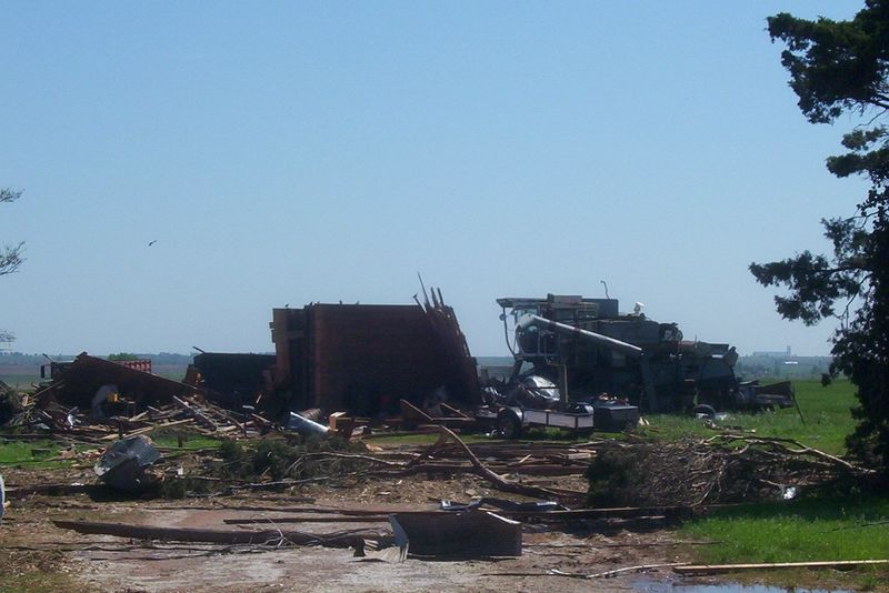 Tornado Damage Southest Of Kremlin, Ok