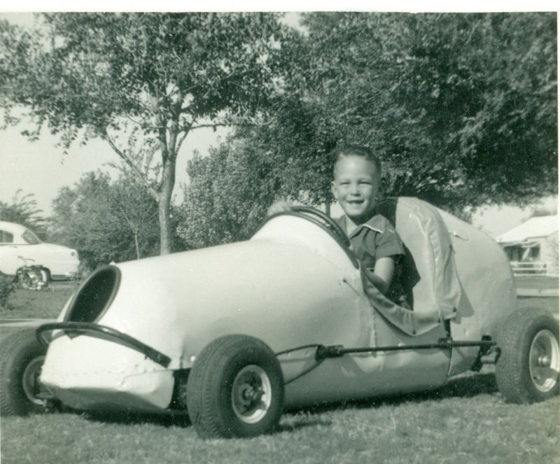 Mike in his first quarter-midget-1955